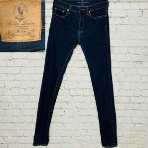 RALPH LAUREN SPORT Dark Wash Mid-Rise Skinny Jean